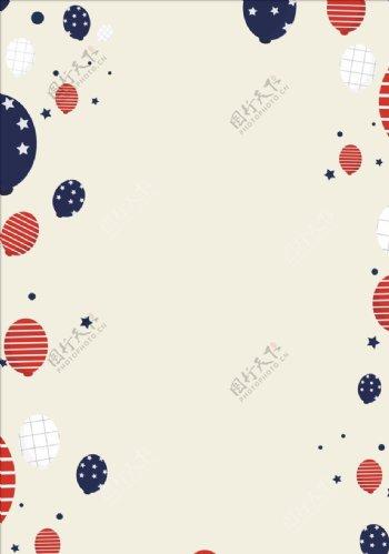 简约气球卡通俄罗斯背景图片