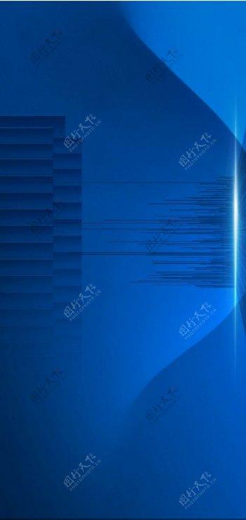 蓝色渐变曲线质感底纹背景图片