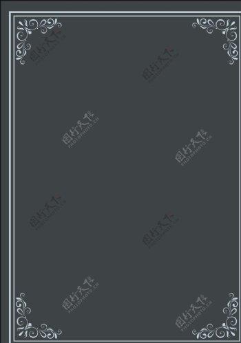 简约欧式边框背景图片