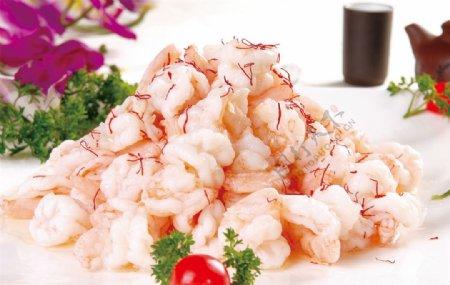 藏红花炒虾仁图片