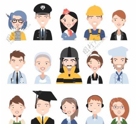 卡通职业人物头像图片