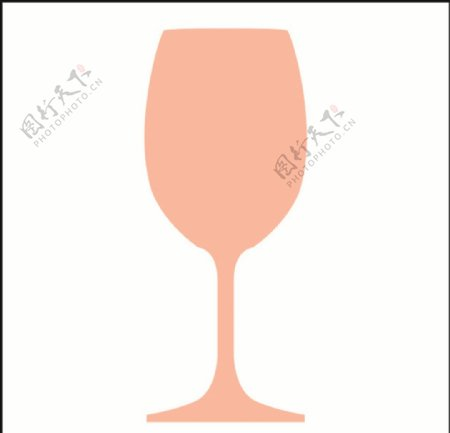 单脚酒杯矢量图形图片