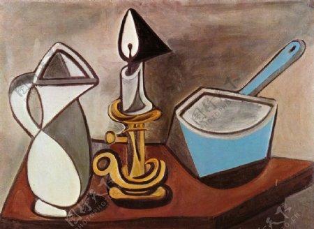 水罐蜡烛和砂锅图片