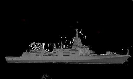 055驱逐舰PSD透明底图片