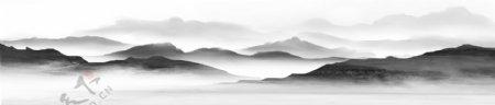 新中式水墨山水背景图片