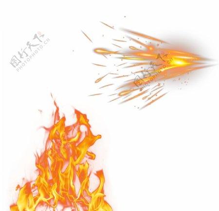 燃烧火苗图片