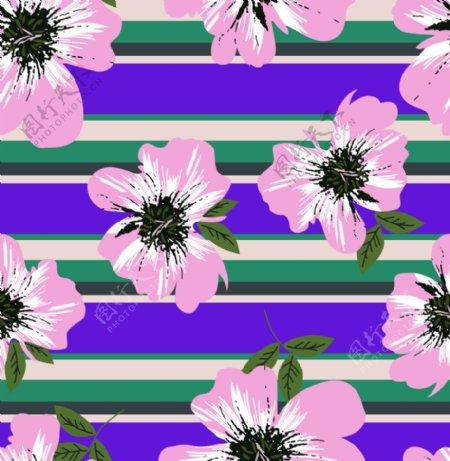 花卉分层四方连续图片