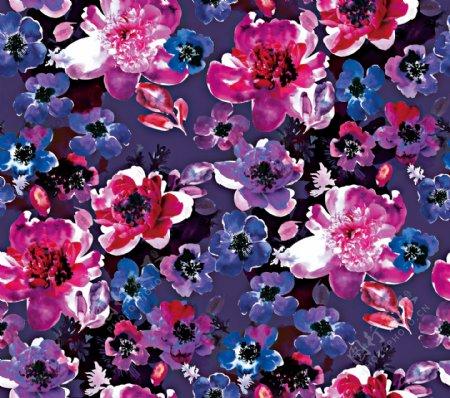 复古水彩花卉图片
