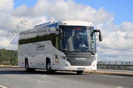 大巴客车汽车交通工具背景素材图片