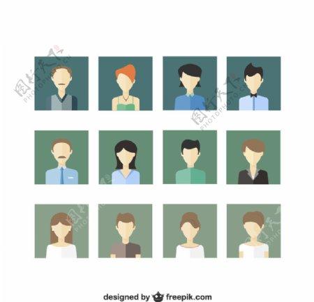 人物头像设计图片
