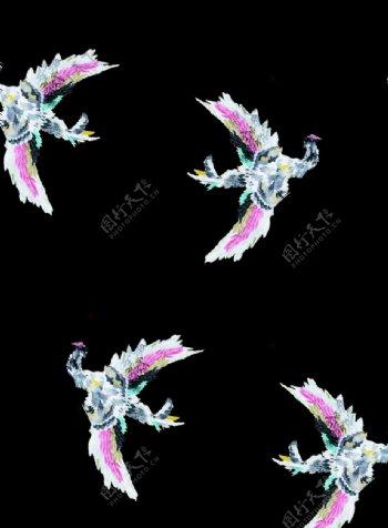 手绘鸟图案图片
