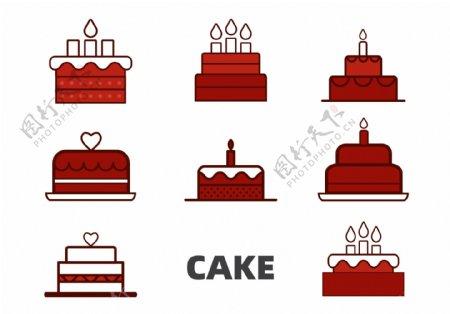生日蛋糕图标图片