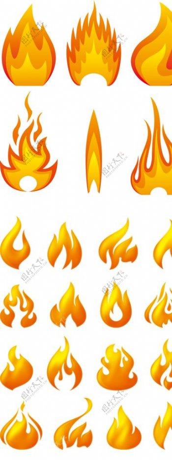 火焰火苗保暖加绒png小素材图片