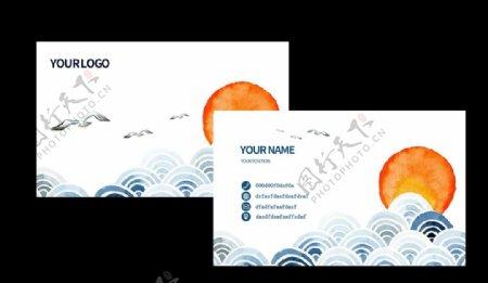 复古传统企业名片卡片素材图片