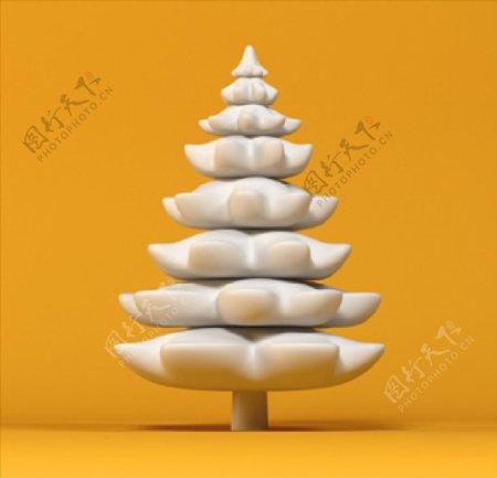 生日松树图片