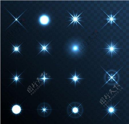 璀璨星光矢量图片
