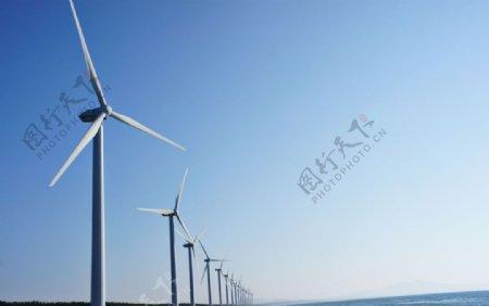风力风车发电图片