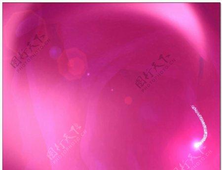 粉色背景粒子划过视频