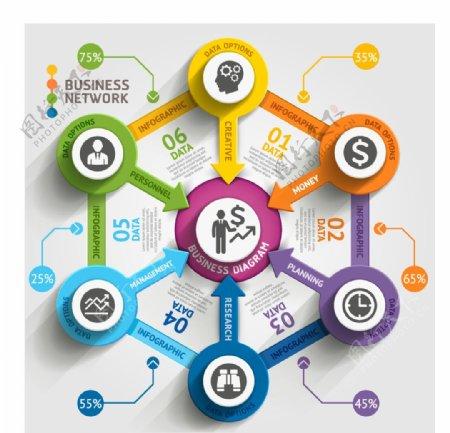 时尚商务信息图表图片