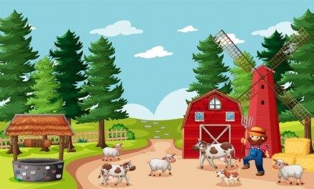 卡通农场图片