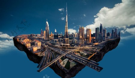 创意合成城市场景图片