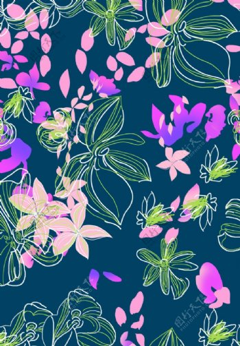 大牌花手绘花卉图片