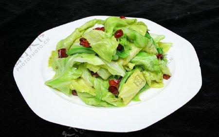 家常菜炝炒卷心菜图片