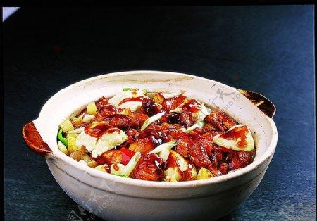 豫菜砂锅生啫飘香榴莲鸡图片