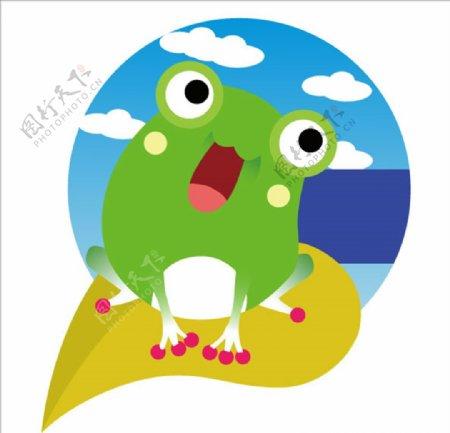 卡通矢量青蛙图片