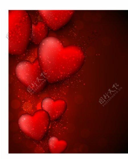 红心情人节矢量图片