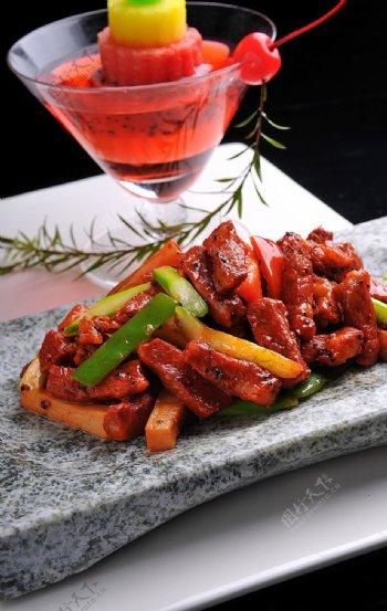 芦笋神户牛肉图片