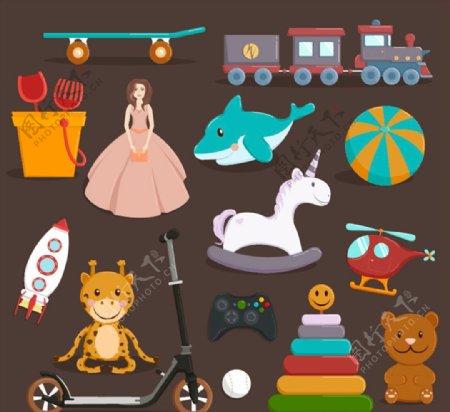 儿童玩具矢量图片