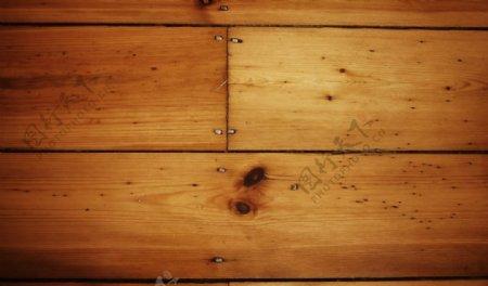 钉子衔接的木板背景图片