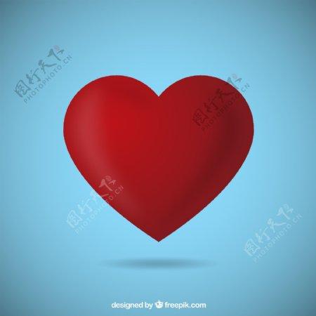 标准红色爱心图片