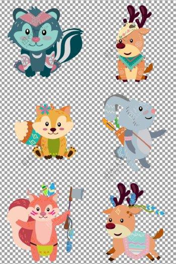 可爱动物插画图片