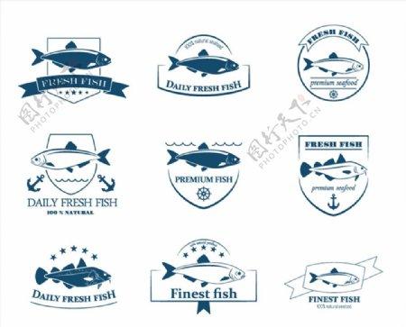 新鲜鱼类标签图片