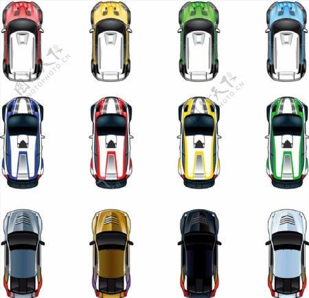 跑车轿车矢量图片