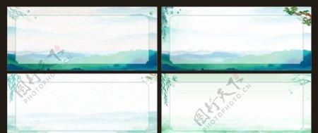 中国风背景宣传栏展板清明春天图片