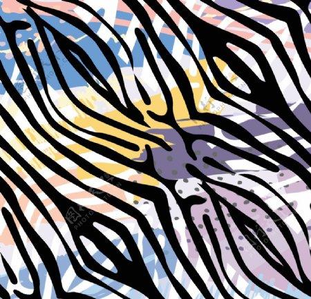 抽象彩色条纹图片