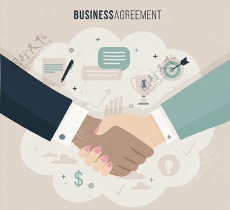 握手的商务人物图片