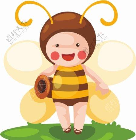 蜜蜂矢量图片
