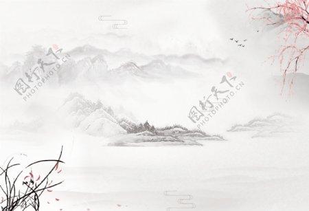 山水背景图片