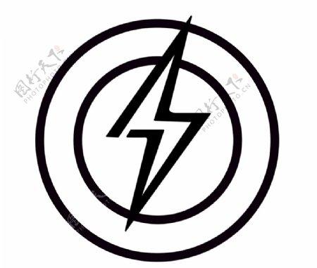 闪电标志图标图片