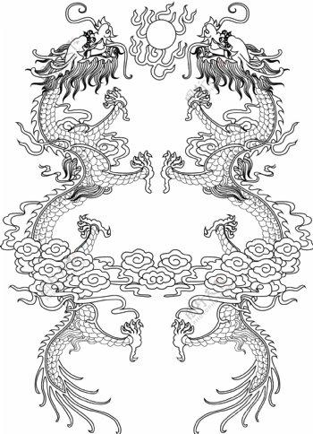 中国风龙纹图片