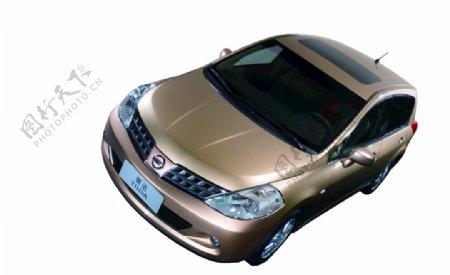 抠图尼桑金色轿车图片