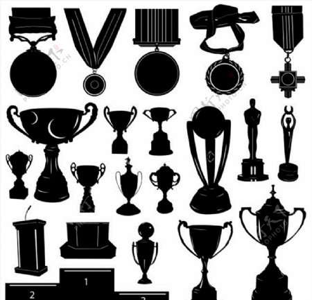 奖杯奖牌图片