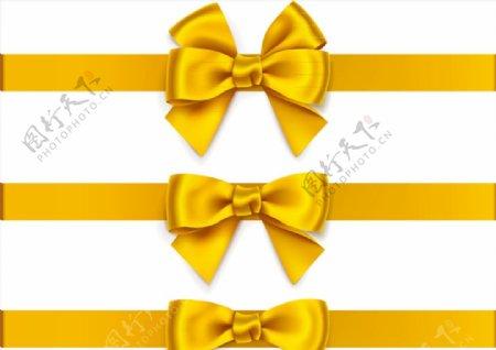 黄色蝴蝶结丝带图片