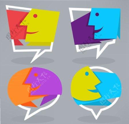 抽象人脸语言气泡图片