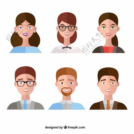 扁平化人物头像图片