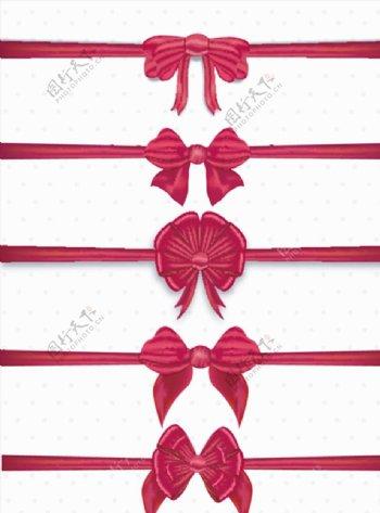 红色蝴蝶结矢量图片